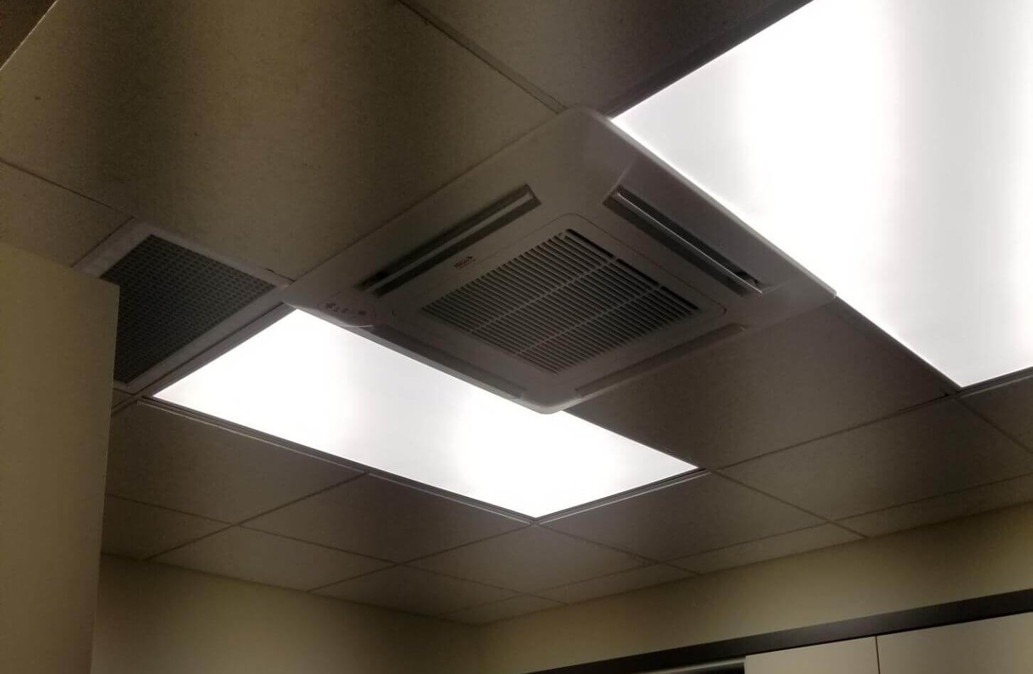 Air conditioner vent in office